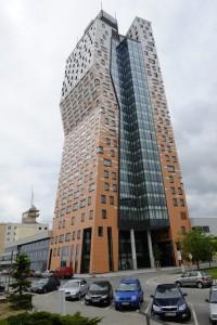 Zájemci si mohli 23. kvìtna prohlédnout nìkteré interiéry mrakodrapu AZ Tower v Brnì, který je nejvyšší budovou v zemi.